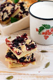 Black currant and cardamom cake Royalty Free Stock Image