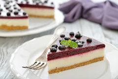 Black currant cheesecake Stock Photos