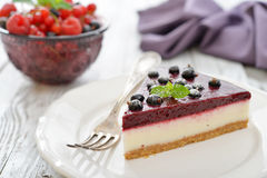 Black currant cheesecake Stock Image