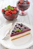 Black currant cheesecake Stock Photography