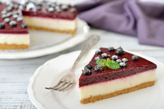Black currant cheesecake Royalty Free Stock Image