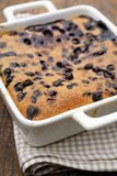 Black currant clafoutis Stock Images
