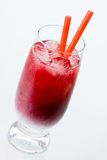 Black currant cocktail with batida de coco Stock Photography