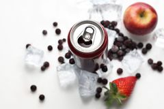 Black currant cocktail, refreshing healthy juice diet. Cold drink. royalty free stock image