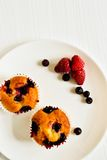 Black-currant cupcakes Royalty Free Stock Images