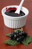 Black currant jam Royalty Free Stock Photo