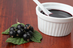 Black currant jam Royalty Free Stock Image