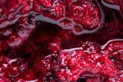 Black currant jam with bubbles close up. Black currant fruit jam with bubbles close up Stock Photo