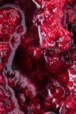 Black currant jam with bubbles close up. Black currant fruit jam with bubbles close up Stock Photos