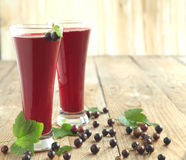 Black currant juice Royalty Free Stock Photos