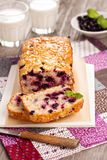 Black currant loaf cake Stock Images