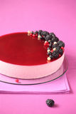 Black Currant Mousse Cake Royalty Free Stock Photos