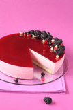 Black Currant Mousse Cake Stock Image