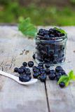 Black currant. On the table Royalty Free Stock Images