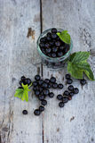 Black currant. On the table Stock Images