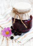 Black currants jam Stock Image