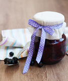 Black currants jam Royalty Free Stock Photography