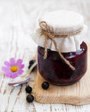 Black currants jam Royalty Free Stock Images