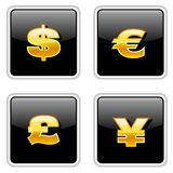 Black Currency Signs Royalty Free Stock Photo