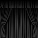Black Curtain Royalty Free Stock Image