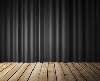 Black curtains Royalty Free Stock Images