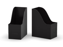 Black curve blank  file holder with clipping path Stock Images