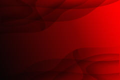 Black curve. On red background Royalty Free Stock Image
