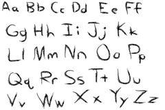 Black Custom Alphabet. A Fun Black Custom Alphabet Stock Images