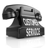 Black customer service phone Royalty Free Stock Photography
