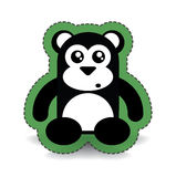 Black Cute Bear Sticker Stock Images
