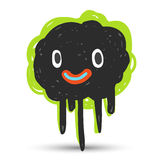 Black cute monster Stock Images