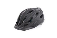 Black cycle helmet. Black bicycle helmet isolated on white background Royalty Free Stock Photos