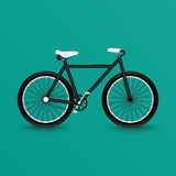 Black cykeln Royaltyfri Foto