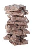 8-black czekolady wierza odizolowywający na bielu Zdjęcia Stock
