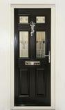 Black dörren Royaltyfri Fotografi