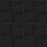 Black 3d abstract wavy squares. Black 3D seamless background. Dark pattern with realistic shadow.Black 3d abstract wavy squares Stock Photos