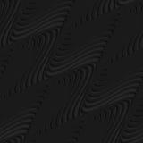 Black 3d diagonal merging waves Royalty Free Stock Photo
