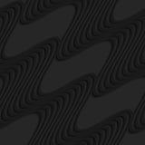 Black 3d diagonal waves Stock Photography
