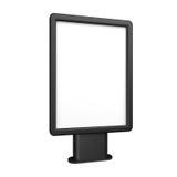 Black 3D illustration light box citylight mockup isolated on white. Royalty Free Stock Photography