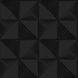 Black 3d striped triangles wind turns. Black 3D seamless background. Dark pattern with realistic shadow.Black 3d striped triangles wind turns Royalty Free Stock Images