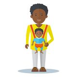 Black dad and baby boy Royalty Free Stock Photo