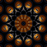 Black dahlia mandala Stock Photos