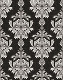 Black damask background Royalty Free Stock Photo