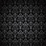 Black Damask Pattern Stock Photos