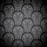 Black Damask Pattern Royalty Free Stock Images
