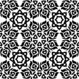 Black Damask pattern on a white background. Stock Image