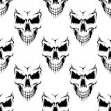 Black danger skull seamless pattern Stock Photography