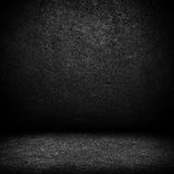 Black dark leather wall and black floor interior b Stock Image