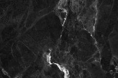 Black and dark marble texture shot through with white deep veining. Pattern for backdrop or background, And can also be used create marble effect to Royalty Free Stock Photos
