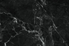 Black and dark marble texture shot through with white deep veining. Pattern for backdrop or background, Can also be used create surface effect to architectural Royalty Free Stock Photo